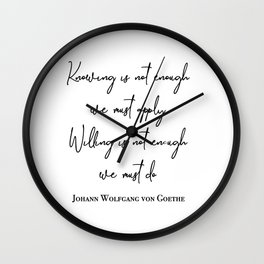 Knowing is not enough Wall Clock
