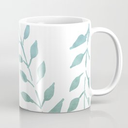 Blue and Green Fronds Coffee Mug