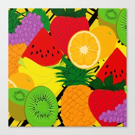 Fruits Pattern Canvas Print