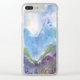Forest of Light Watercolor Illustration Clear iPhone Case