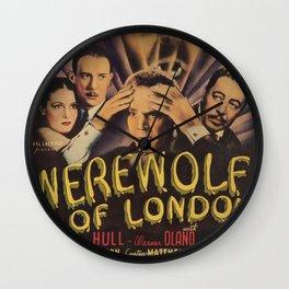 Werewolf of London, vintage horror movie poster 4 Wall Clock
