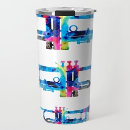 Colorful Trumpet 2 Art By Sharon Cummings Travel Mug