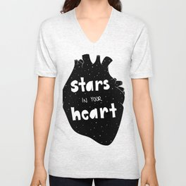 Stars in your Heart Unisex V-Neck