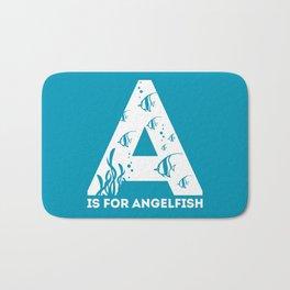 A is for Angelfish - Animal Alphabet Series Bath Mat