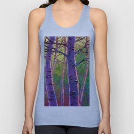 Poplars in winter at the sunset Unisex Tank Top