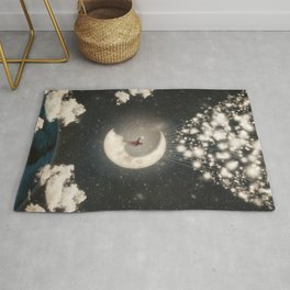 The Big Journey of the Man on the Moon  Rug