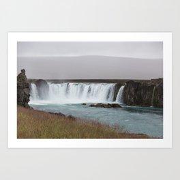 Godafoss waterfall in Iceland - nature lanscape Art Print