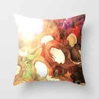 coconut wishes Throw Pillows featuring COCONUT by Laura James Cook