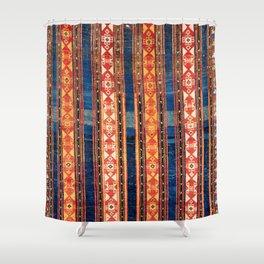 Shahsavan Moghan Caucasian Striped Rug Print Duschvorhang