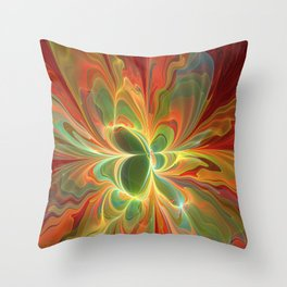 With a lot of Red, Abstract Art Throw Pillow