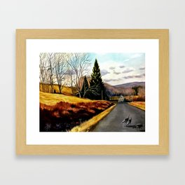 The Country Road Framed Art Print