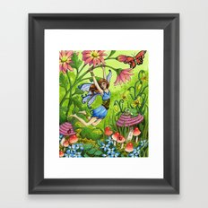 Meadow Fairy Framed Art Print