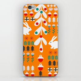 Sweet Christmas bunnies iPhone Skin