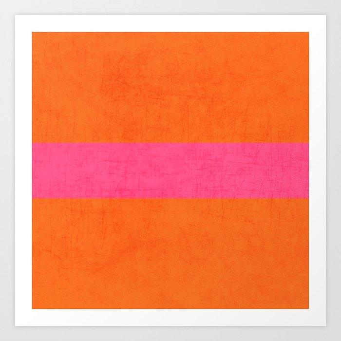 orange and hot pink classic Kunstdrucke