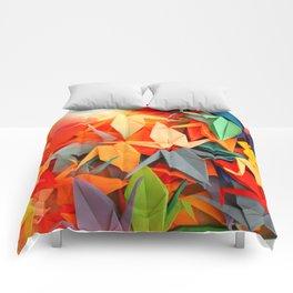 Senbazuru rainbow Comforters