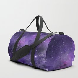 Purple Watercolor Space Pattern Duffle Bag