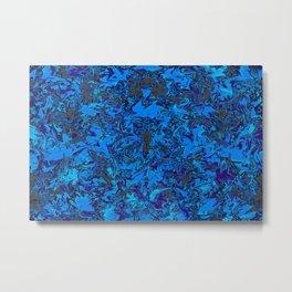 Blurred in Blue.... Metal Print