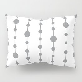 Gray vertical lines and dots Pillow Sham