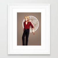 fullmetal alchemist Framed Art Prints featuring Seal of an Alchemist by TEAM JUSTICE ink.