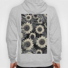 Tropical Sunflower Jungle Night Leaves Pattern #2 #tropical #decor #art #society6 Hoody