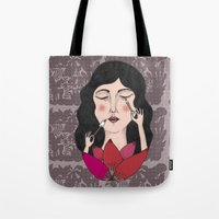 make up Tote Bags featuring Make up by Judit Canela