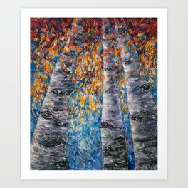 Aspen Trees by OLena Art Art Print