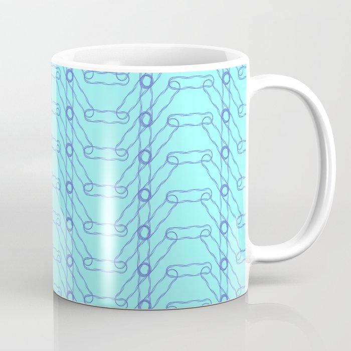 Blue Spiro Pattern Coffee Mug