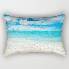 Beach - Ocean - Clouds - Water - Waves Rectangular Pillow