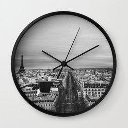 Black and White Paris Wall Clock