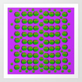 The happy eyes of freedom in polka dot cartoon pop art Art Print