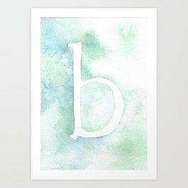 b watercolor Art Print