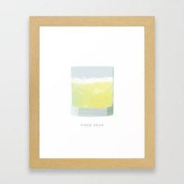 Cocktail Hour: Pisco Sour Framed Art Print