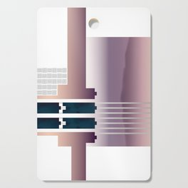 Minimalist Gradient Geometric Interlocking Abstract Structures #buyart #homedecor Cutting Board