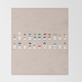 Occupations Alphabet Throw Blanket