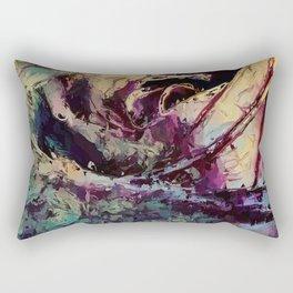 Dance of Colors. Rose. Flower. Rectangular Pillow