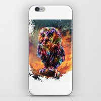 trex iPhone & iPod Skins featuring brave little owl by ururuty