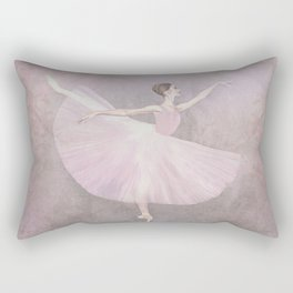 Ballerina in Arabesque Rectangular Pillow