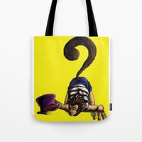 clueless Tote Bags featuring Clueless by BIHLUSTRATION