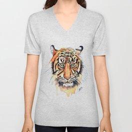 Tiger (Watercolor) Unisex V-Neck
