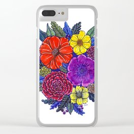 Floral Passion Clear iPhone Case