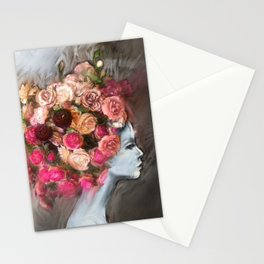 Flower Bloom Girl Stationery Cards