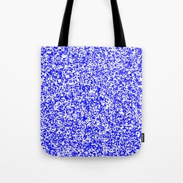 Tiny Spots - White and Blue Tote Bag