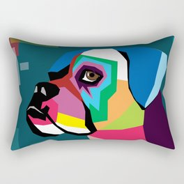 dog bulldog Rectangular Pillow