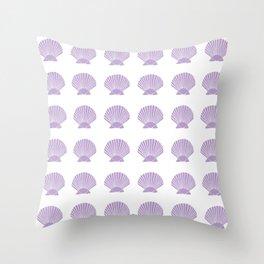 Lavender Seashell Throw Pillow