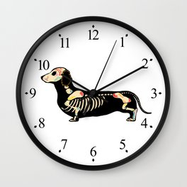 Happy Halloweenie Wall Clock