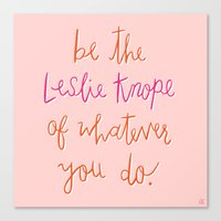 leslie knope Canvas Prints featuring Leslie Knope by The Uncommon Place