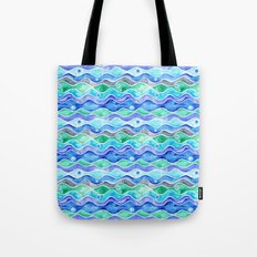 Ocean Pattern - Dolphin Tote Bag