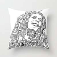 marley Throw Pillows featuring Marley by Ron Goswami