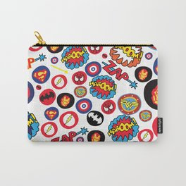 Superhero Stickers Carry-All Pouch