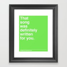 That Song Framed Art Print